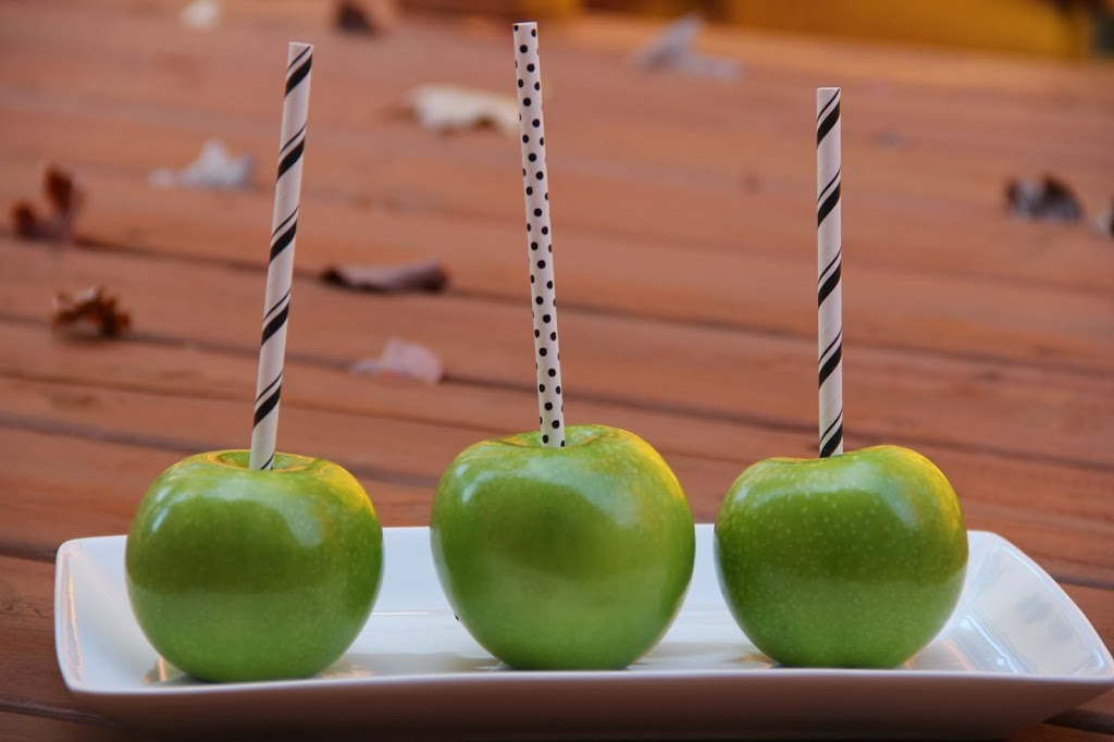 Apples with sticks