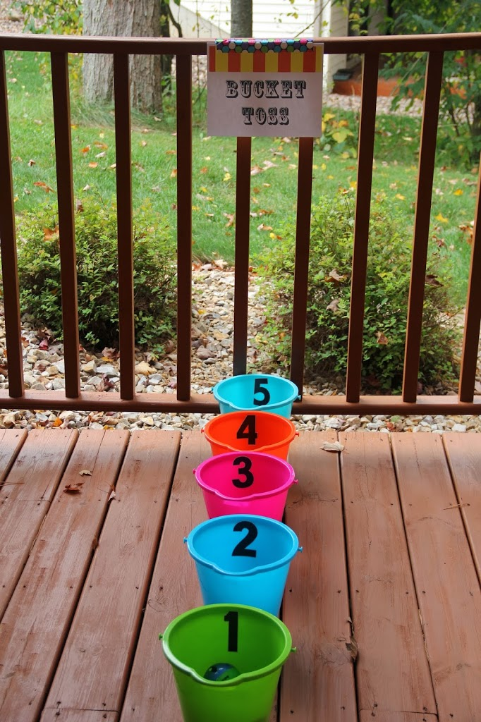 A pinterest inspired carnival party bitz giggles for Plastic fish bowls dollar tree