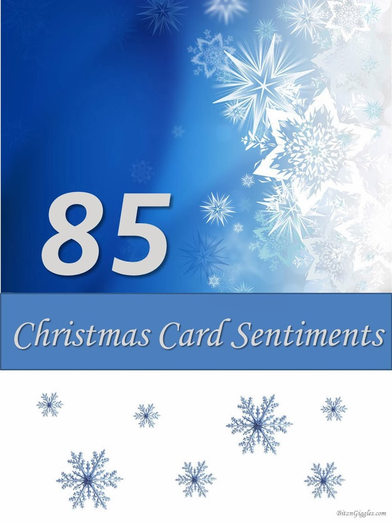 85 christmas card sentiments