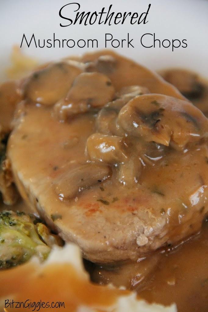 Smothered Mushroom Pork Chops