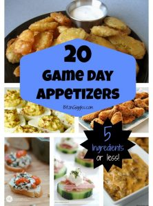 20 Game Day Appetizers – 5 Ingredients or Less!