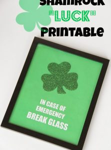"Shamrock ""Luck"" Printable"