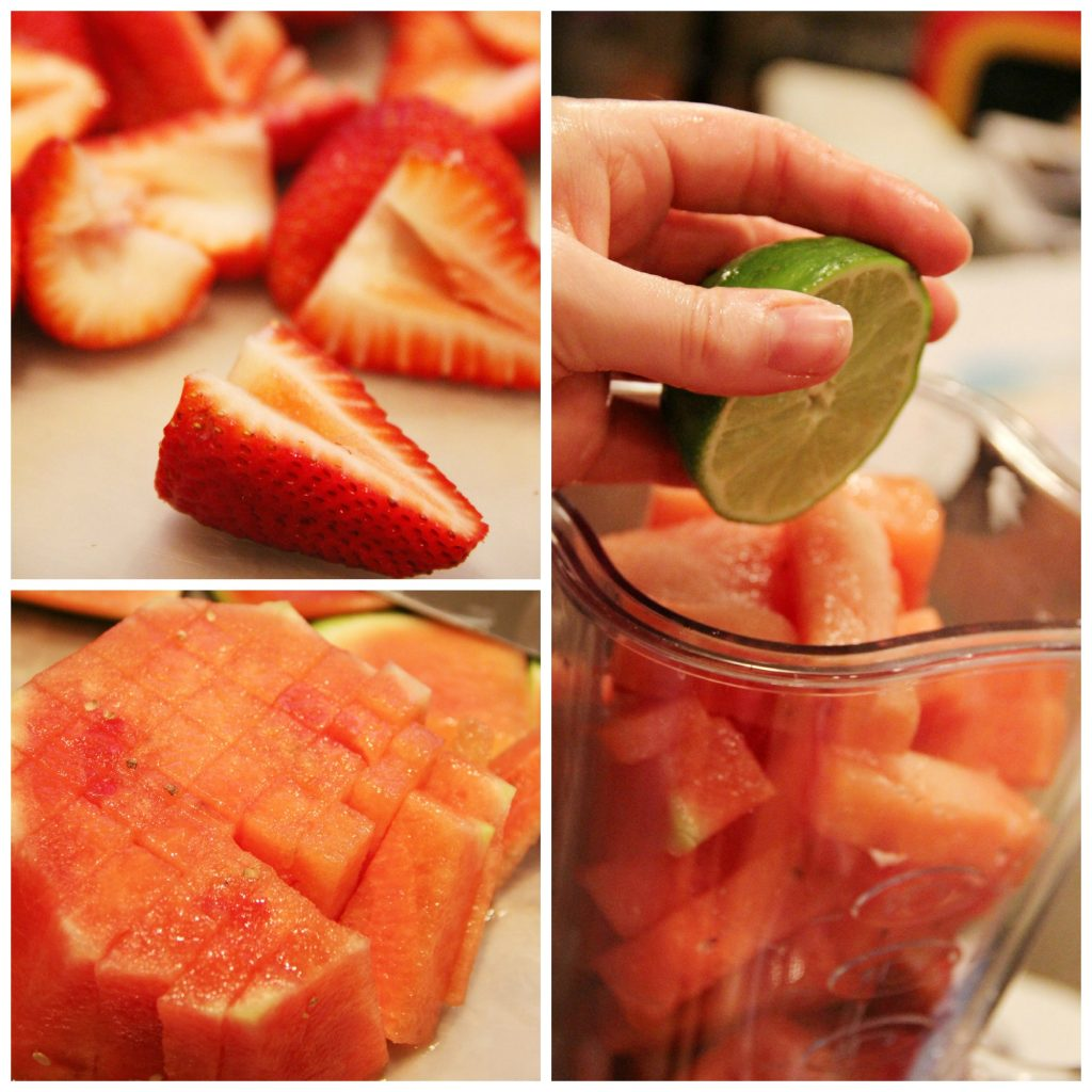 Strawberry Watermelon Agua Fresca Popsicles