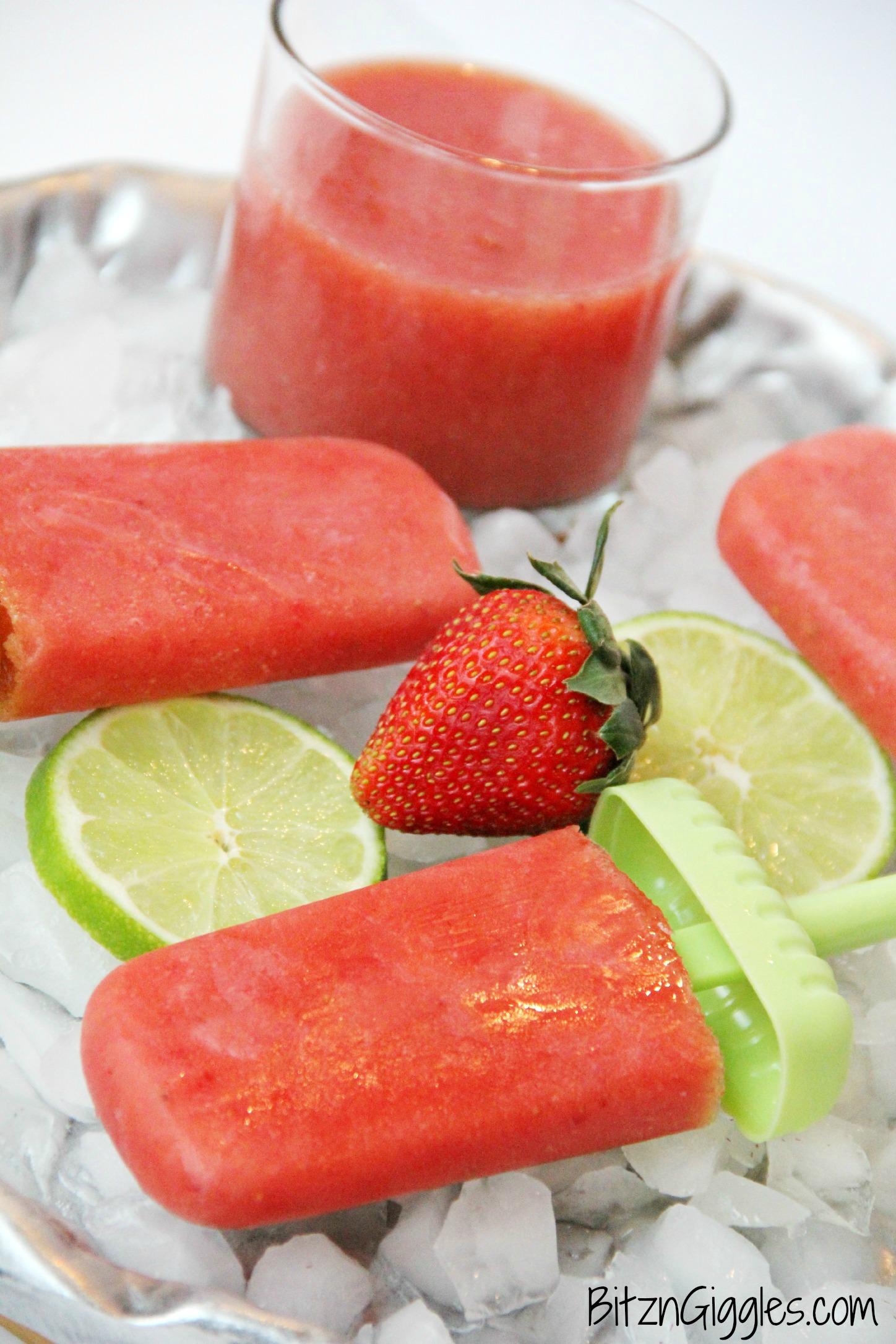 Strawberry Watermelon Agua Fresca Popsicles - Bitz & Giggles