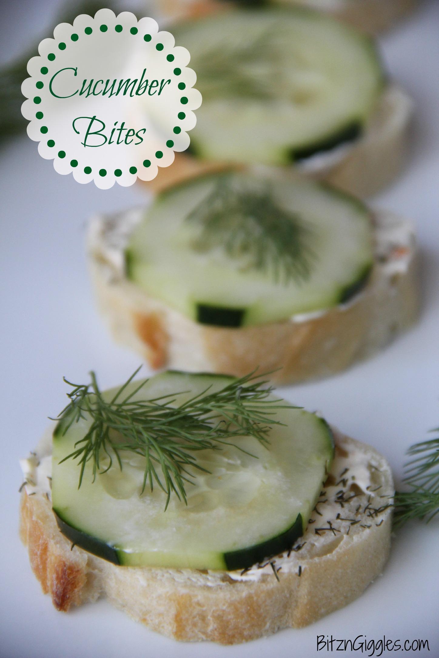 Cucumber Bites - Bitz & Giggles