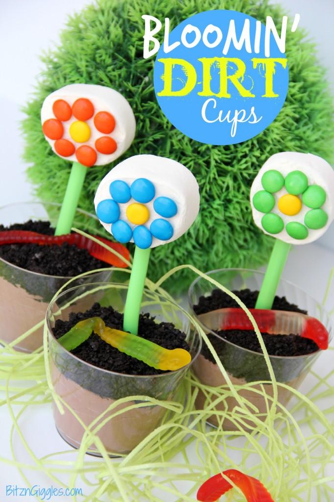 Bloomin' Dirt Cups - Bitz & Giggles