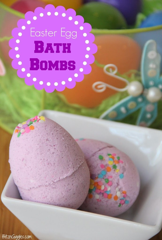Egg Bombs that pink with confetti sprinkles