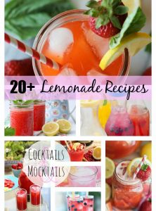 Over 20 delicious lemonade recipes - just in time to enjoy for the summer!