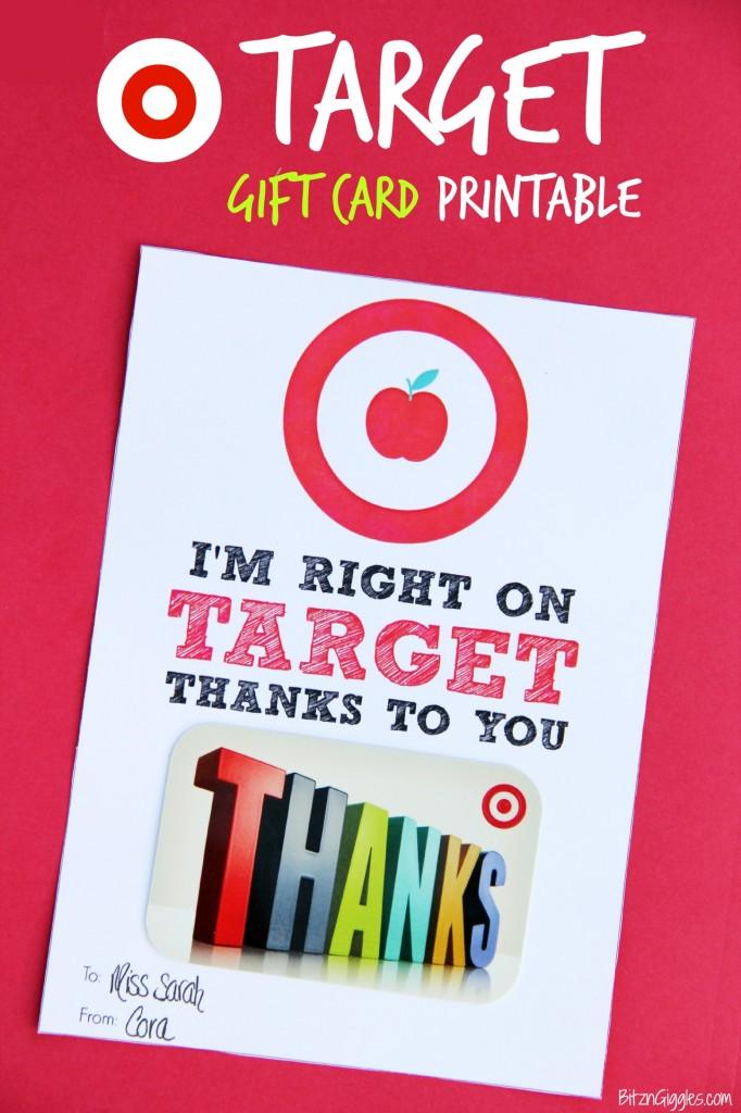 Target Gift Card Printable - Bitz & Giggles