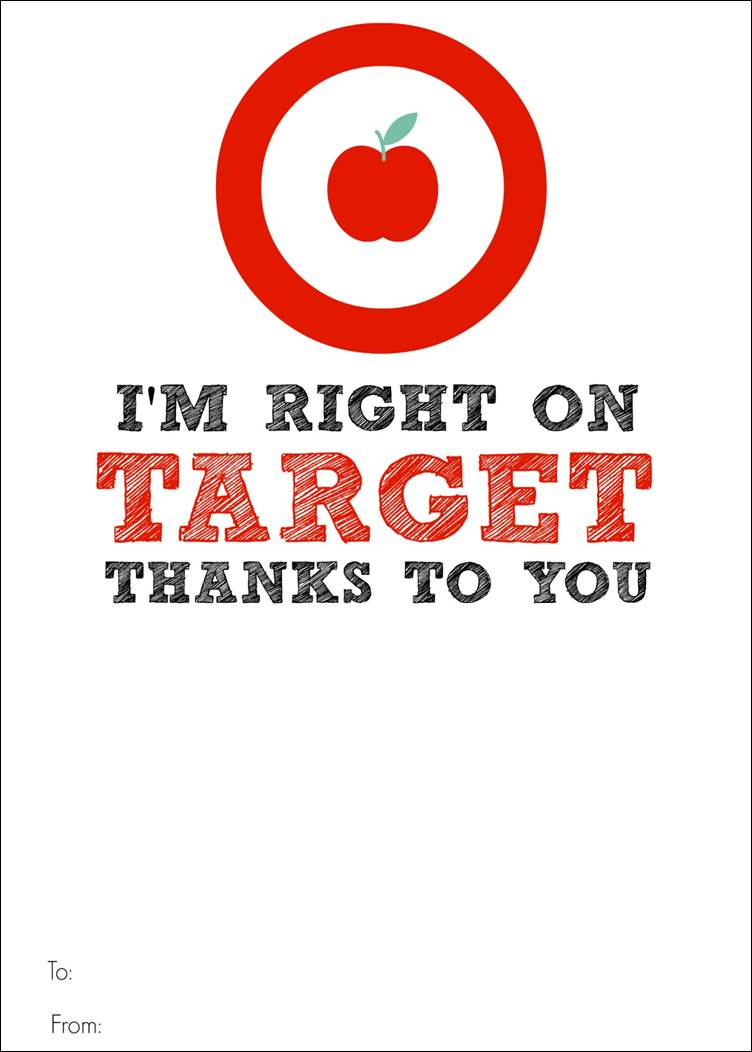 Target Gift Card Printable - Teacher Appreciation - Bitz u0026 Giggles