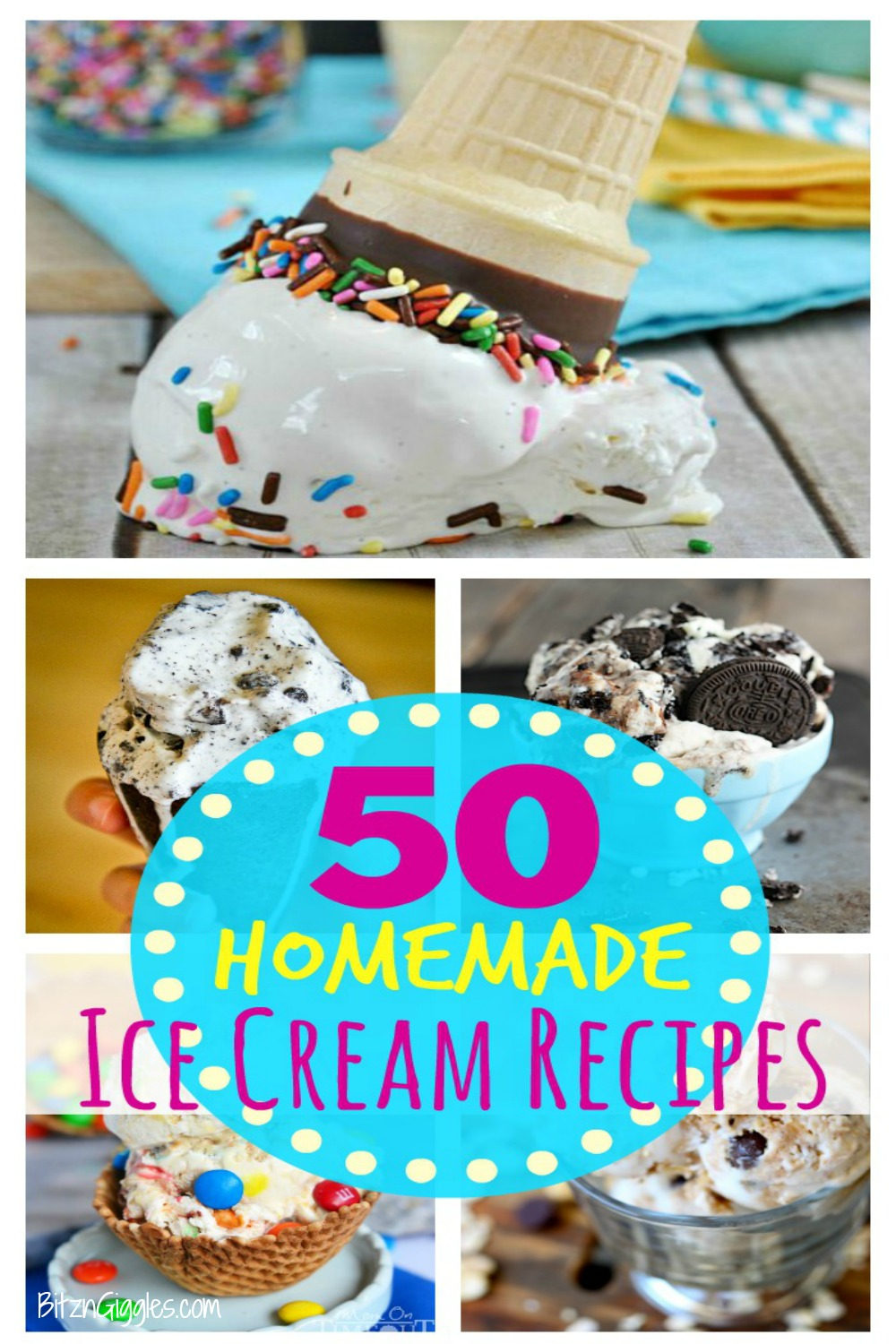 50 Homemade Ice Cream Recipes - Delicious homemade no-churn ice cream recipes you can make at home!