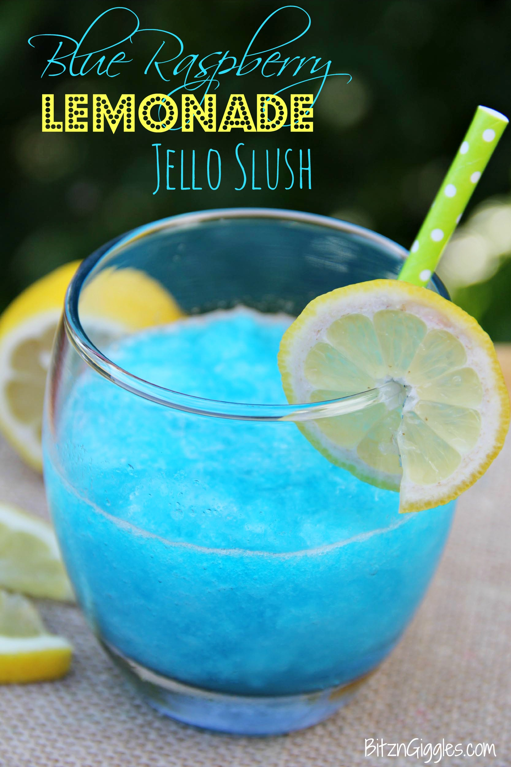 Blue Raspberry Lemonade Slush