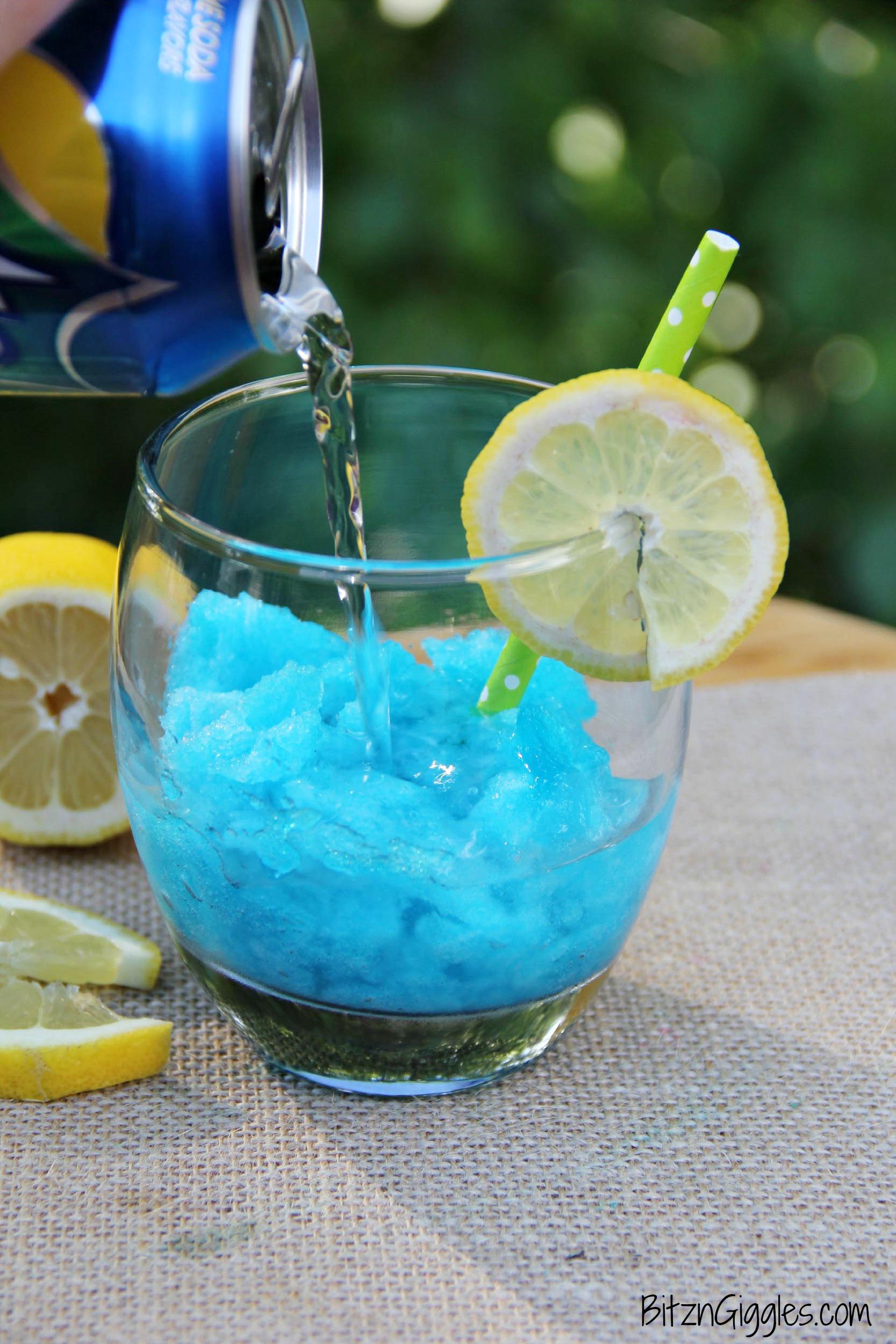 Blue Raspberry Lemonade Jello Slush, super fun and refreshing slush ...
