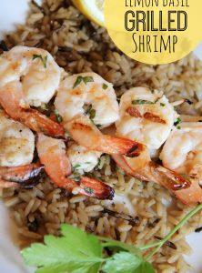 Lemon Basil Grilled Shrimp - Bitz & Giggles