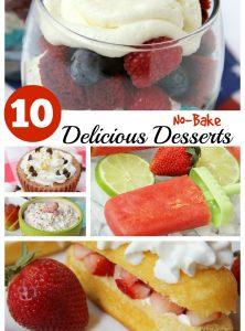 10 No Bake Desserts - Bitz & Giggles