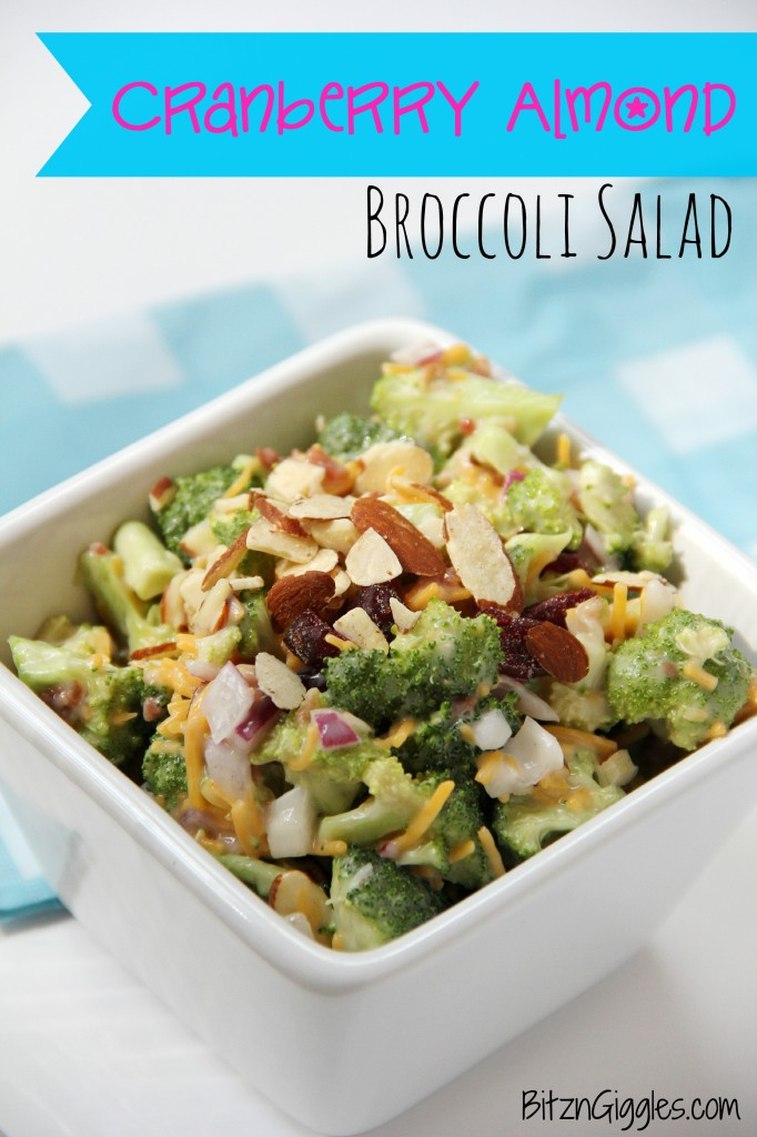 Cranberry Almond Broccoli Salad - Bitz & Giggles