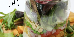 Loaded Salad in a Jar