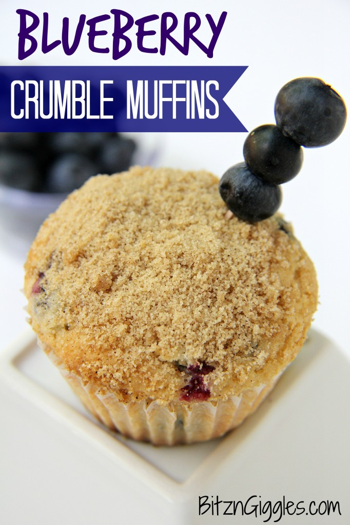 Blueberry Crumble Muffins - Bitz & Giggles