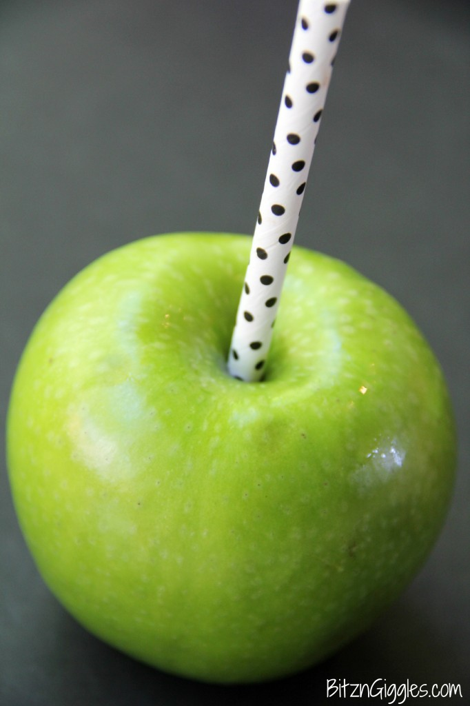 Apple with stick