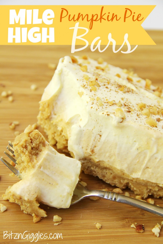 Mile High Pumpkin Pie Bars - Bitz & Giggles