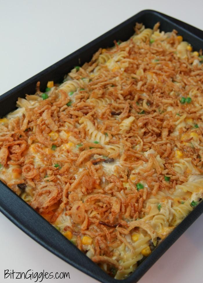 Chicken Crunch Casserole - A creamy, crunchy chicken casserole that ...