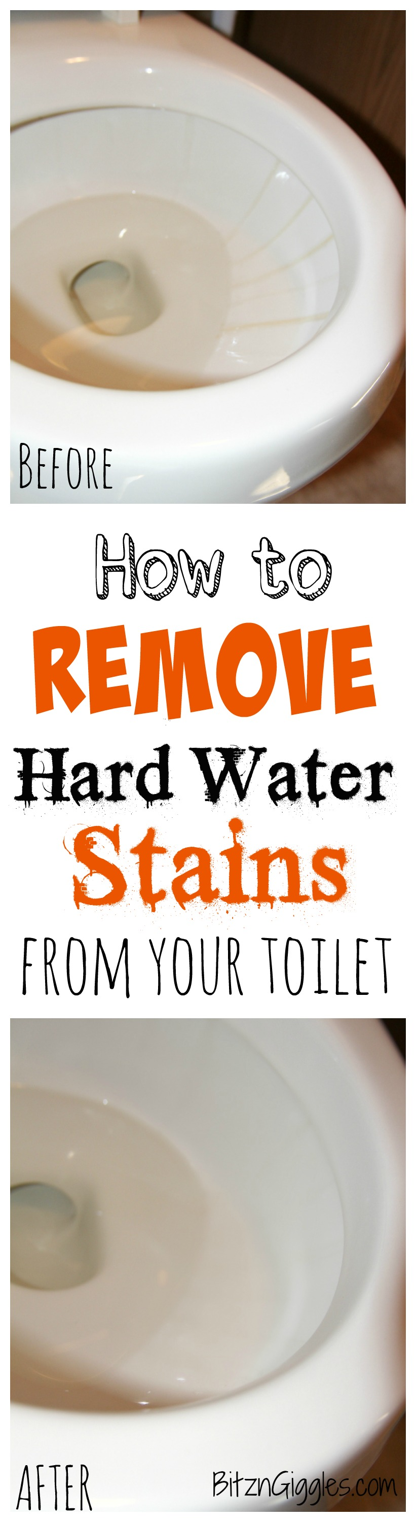 to Remove Hard Water Stains From Your Toilet