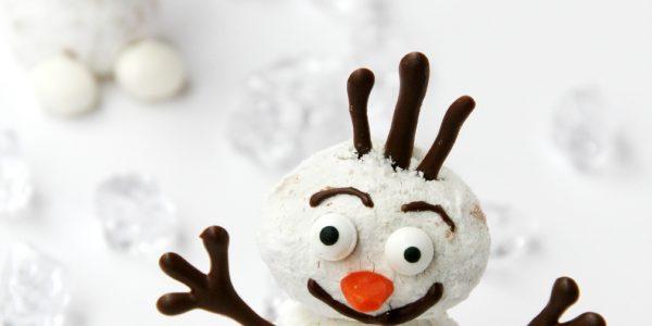 Frozen Olaf Doughnut Snowman
