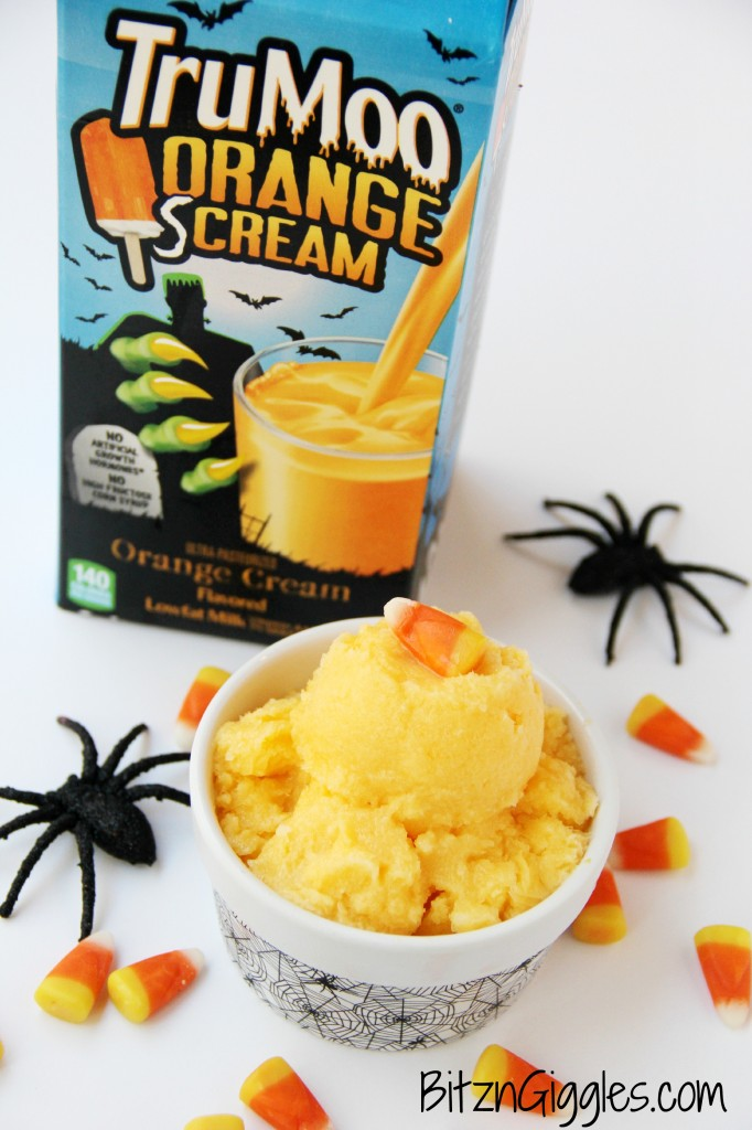 Orange Screamsicle Sherbet - Orange creamsicle flavored sherbet electrified by some tart crushed pineapple and then perfectly sweetened to make a simple and delicious frozen treat that requires only 5 ingredients!