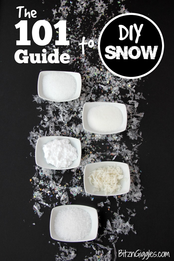 The 101 Guide to DIY Snow
