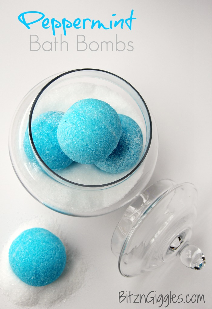 Peppermint bath bombs for Crafts to make for your mom
