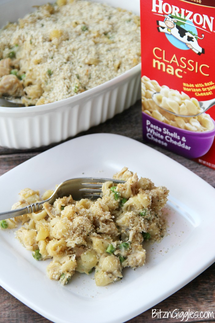 White Cheddar Mac & Chicken Bake