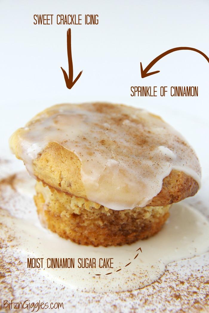 Coffee Cake Glazed Muffins