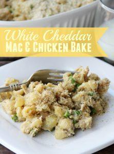 White Cheddar Mac & Chicken Bake