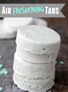 Air Freshening Tabs - Make these tablets with only three ingredients and then place anywhere that needs some freshness like garbage pails and closets!