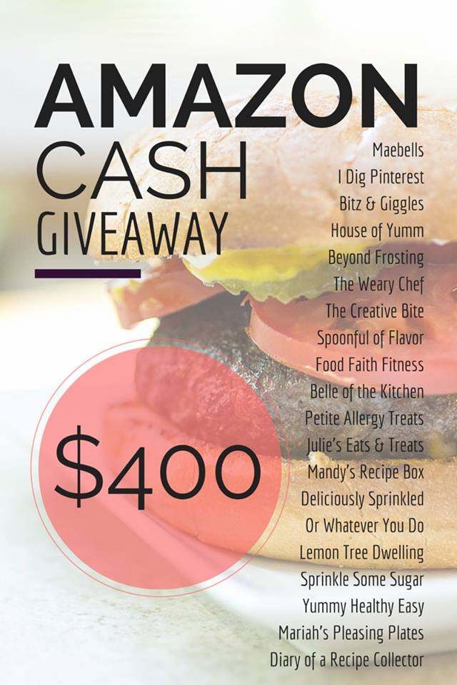 $400 Amazon CASH Giveaway! Now - April 19, 2015!
