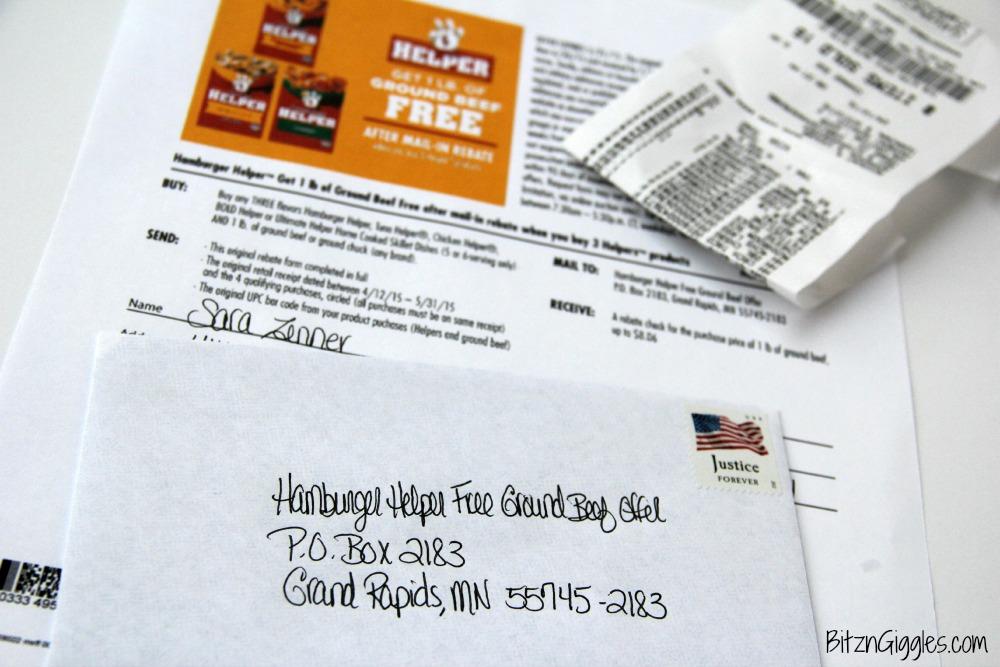 Hamburger Helper FREE BEEF Rebate