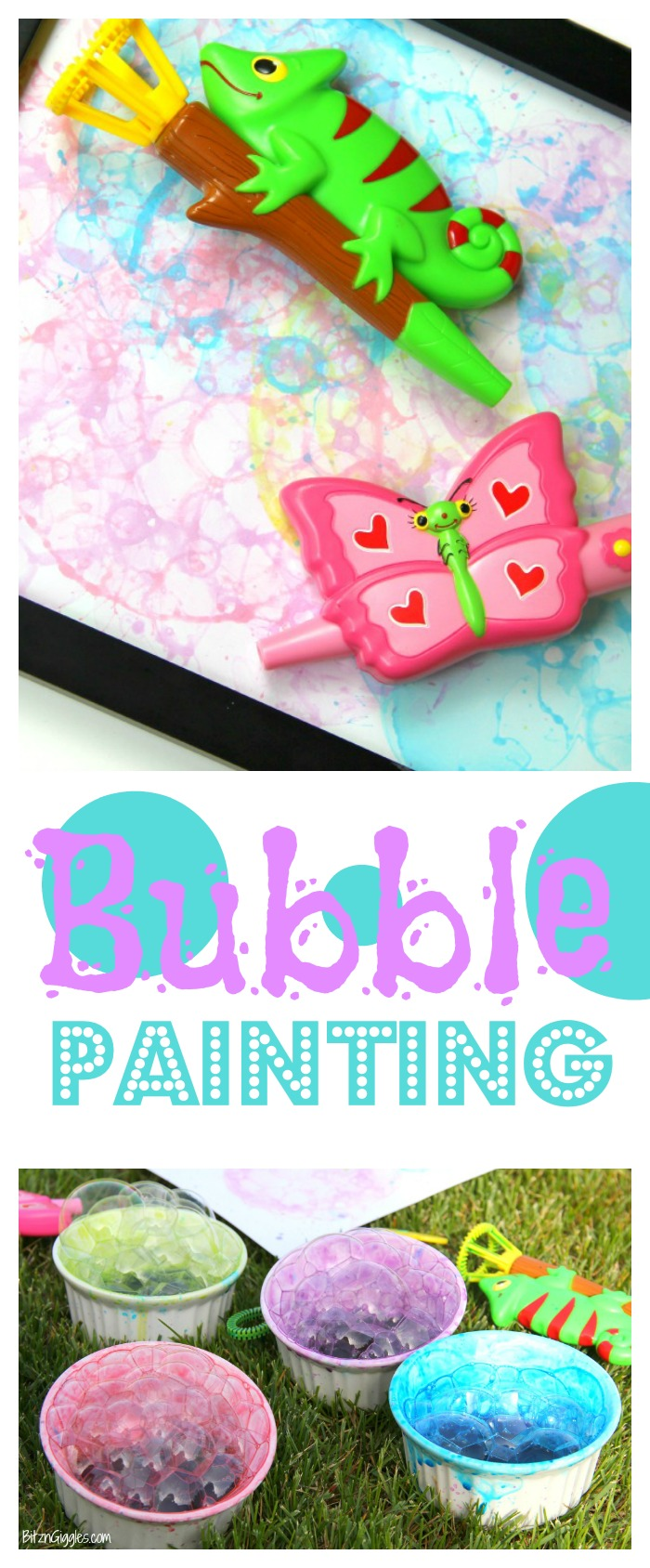 Bubble Painting - You only need two ingredients to make this colorful and gorgeous bubble art that's worthy of a frame!