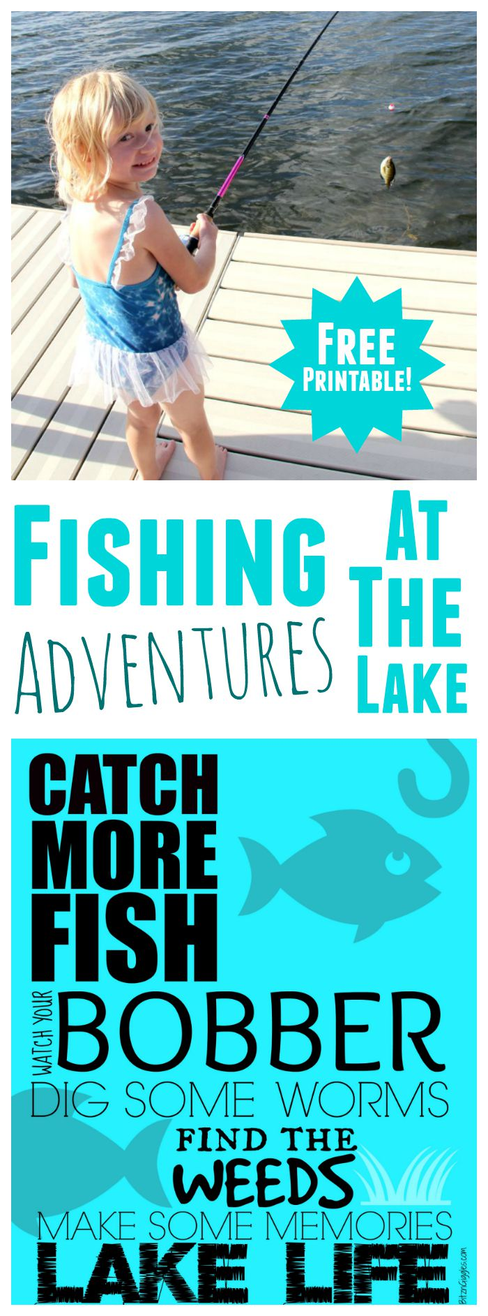 Catch More Fish Printable - Fun, free printable great for displaying in the camper or up at the lake!