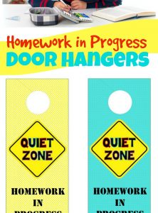 Back to School: Homework in Progress Door Hangers