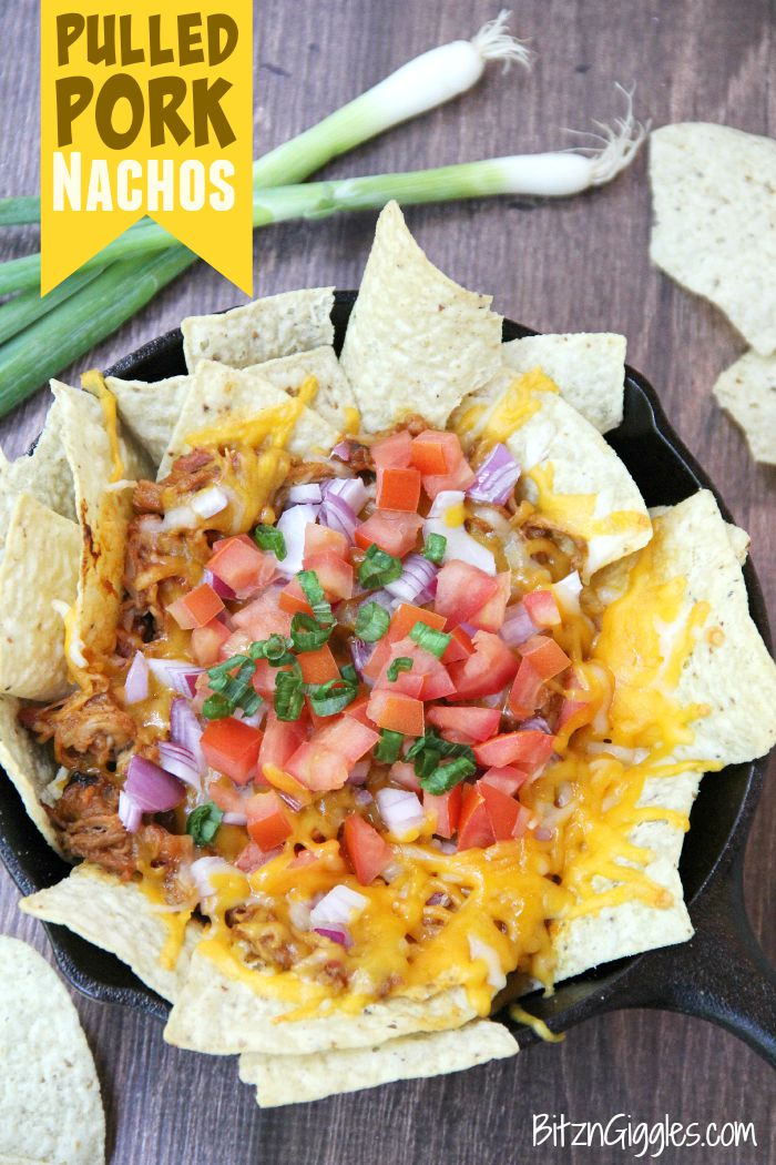 Pulled Pork Nachos - These nachos can serve as either an appetizer or a meal and come together simply and quickly so you can enjoy the party too!