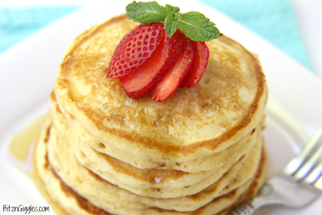 Perfect Pancakes - A secret ingredient in these pancakes makes them super thick and fluffy. They are melt-in-your-mouth delicious cakes the entire family will enjoy!