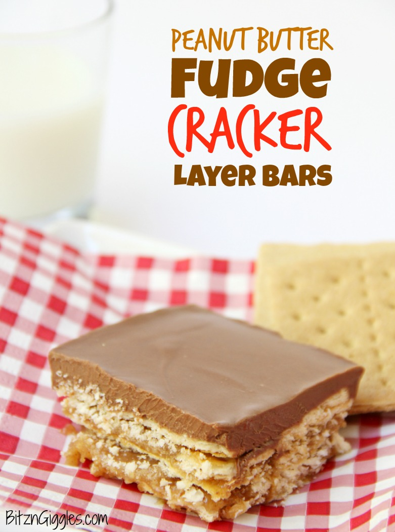 Peanut Butter Fudge Cracker Bars - A sweet and salty cracker layered dessert covered in rich peanut butter chocolate fudge!