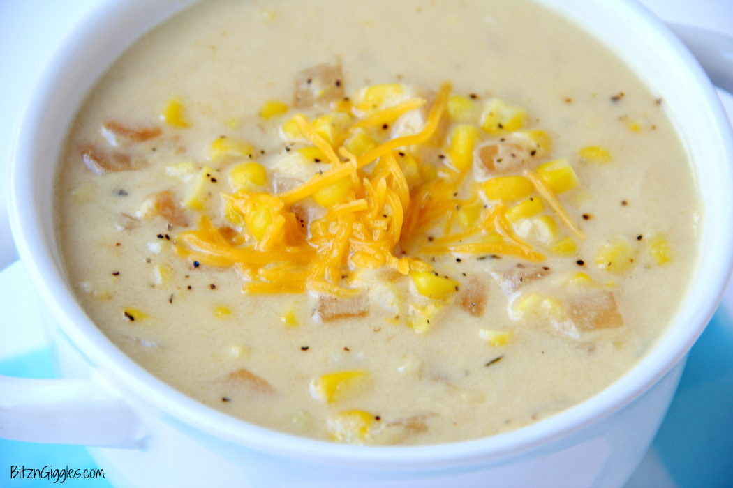 10 Minute Corn Chowder - A delicious, creamy chowder with simple ingredients that comes together in a matter of minutes!