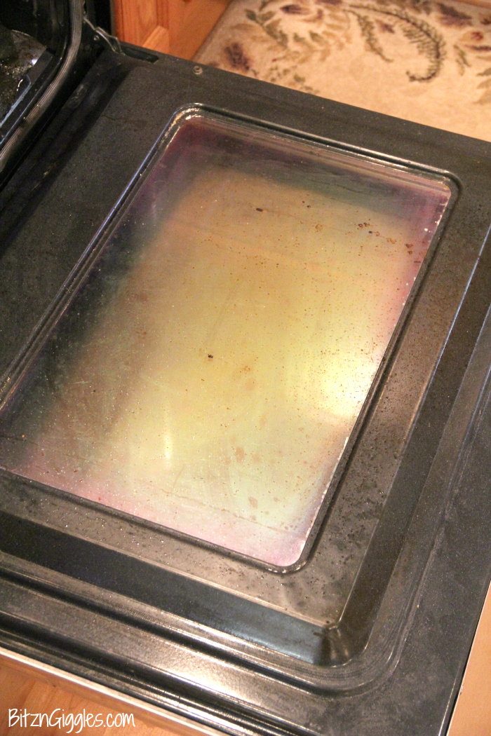 How To Clean The Inside Of Your Oven Door   Wipe Away Years Of Built On