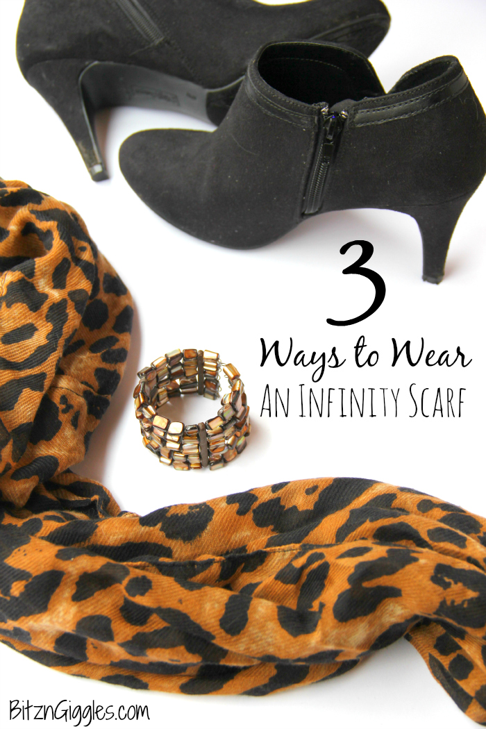 3 Ways to Wear an Infinity Scarf - 3 simple and easy ways to use an infinity scarf to dress up your outfit!