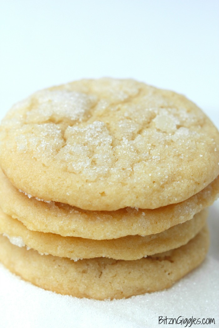 Angel Cookies - A soft and chewy vanilla cookie topped with a gorgeous sugar glaze.