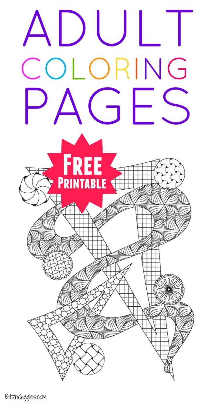 Printable Adult Coloring Pages - Bitz & Giggles