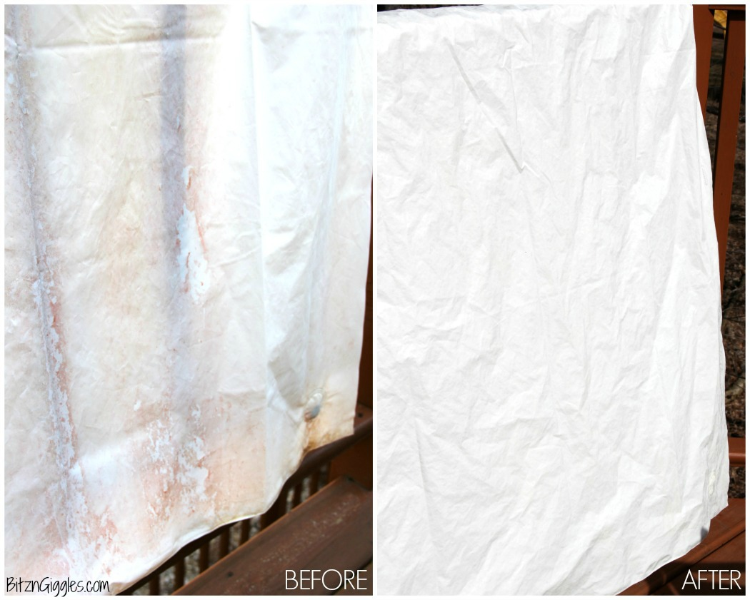 How to Clean a Vinyl Shower Curtain - Bitz & Giggles