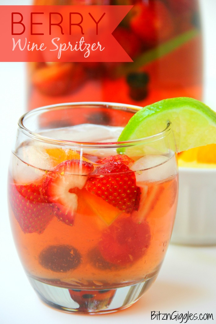 BBerry Wine Spritzer - A delicious, refreshing and light sparkling spritzer infused with fresh berries and citrus!