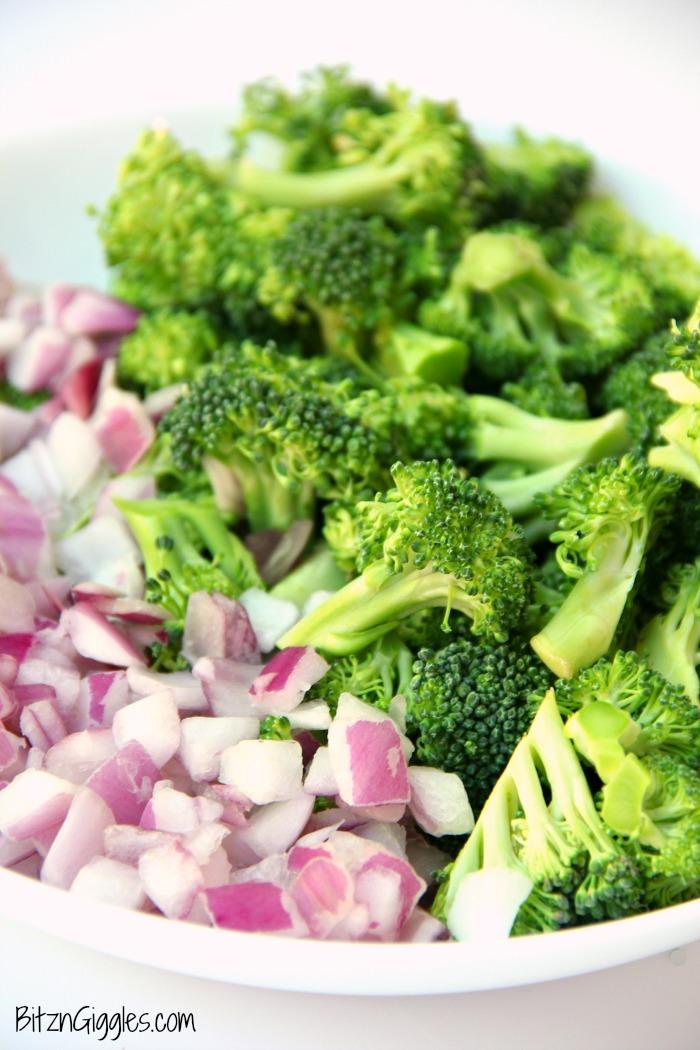 Cheddar Broccoli Pasta Salad - Bitz & Giggles